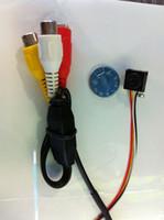 Wholesale Indoor Pinhole Security Camera - mini cctv Pinhole hidden camera security micro Mic camera 600TVL SPY CAMERA optional Wall Charger
