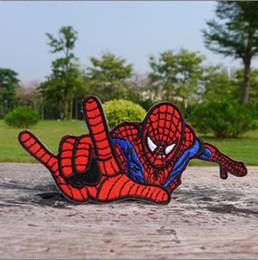 Wholesale Cheap Dropship Wholesale - Spiderman Spider Man Patch Embroidery Iron on Patch Cheap Badge Applique wholesaler dropship