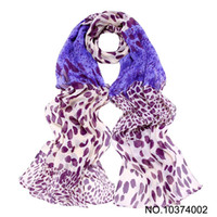 Wholesale Scarf Leopard Color - Leopard print womens scarf Sarongs shawl Lady Shawl headband Wraps Stole mix color #2734