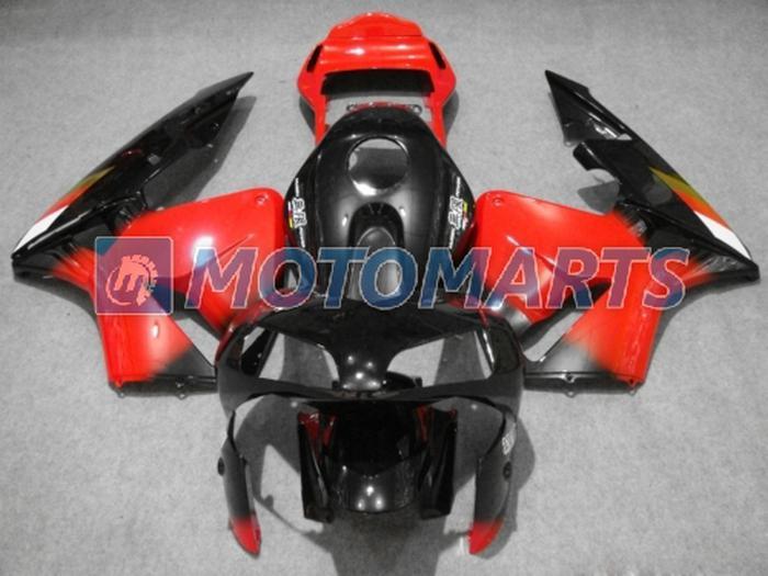 Kit de injeção de venda quente vermelho preto para HONDA CBR600RR 2003 2004 CBR 600RR 03 04 F5 carenagem RX6A