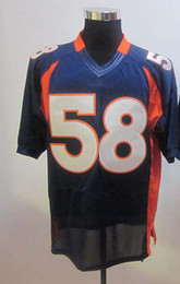 Wholesale American Football Jerseys Wholesale - 2012 All Team Elite American Football 58 Blue Men Jerseys Rugby Jersey Mix Order