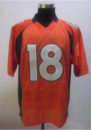Wholesale Wholesale Short Jerseys - 2012 Elite American Football 18 Orange Men Jerseys All Team Rugby Jersey Mix Order