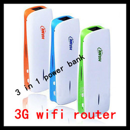 Wholesale Wifi Router Portable - 2013 newest Mini 3G wifi Router 3 In 1 1800MAH Portable Power Pack Bank