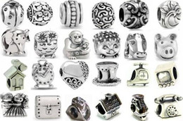 Wholesale Charms For Pandora Bracelets Cheap - 10%OFF!2015 NEW ARRIVAL!194style 200pcs silver tone European charm beads for pandora bracelet! Cheap fashion jewelry!