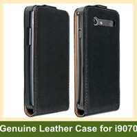 Wholesale Galaxy S Advance Cases - Wholesale New Genuine Leather Flip Case for Samsung Galaxy S Advance i9070 Free Shipping