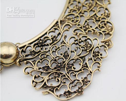 Chunky Chunky della collana della collana del choker della lega del fiore della nappa dell'annata brandnew MIN Ordine Trasporto libero