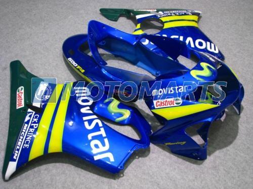 carenature giallo blu moda Honda CBR600 F4 1999 2000 cbr 600 CBRF4 99 00 carenatura completa RX1A