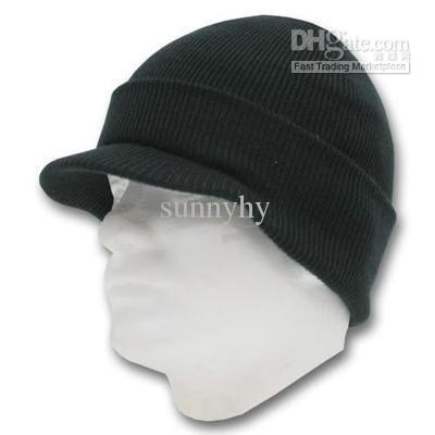 Men S Winter Knit Visor Cap Skull Hat Ski Beanie Hat UK 2019 From Sunnyhy beb8bf52826f