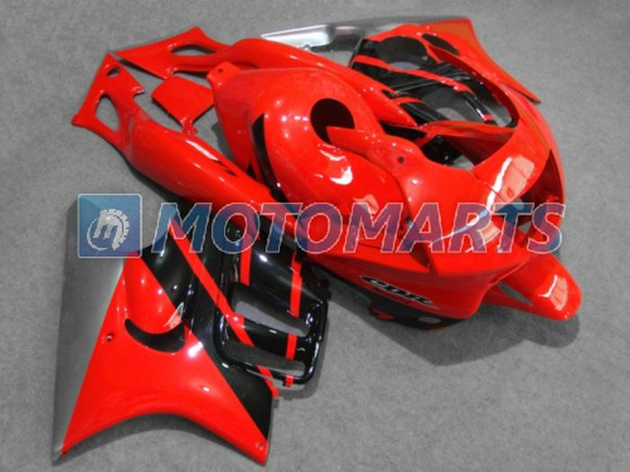 Hot!Dark red black ABS custom fairing for Honda CBR600F3 97 98 CBR 600 F3 1997 1998 body kit RX1C
