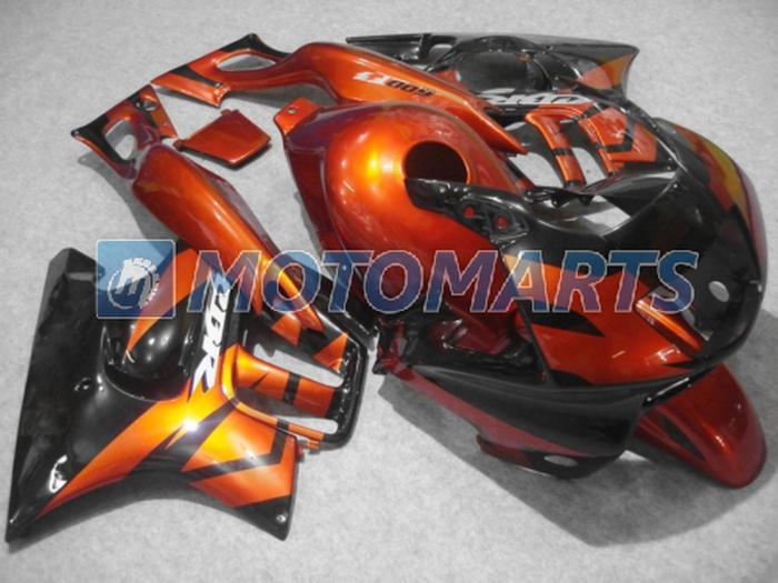 Chaud! carénage ABS noir gloden populaire pour Honda CBR600F3 97 98 CBR 600 F3 1997 1998 kit carrosserie RX7A