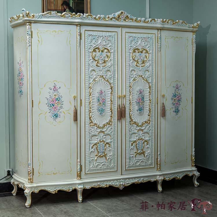 French Antique Furniture - Royalty Classic Solid Wood Hand Carved Wardrobe  Bedroom Furniture Classic French Style Bedroom Furniture Solid Wood  Furniture ... - French Antique Furniture - Royalty Classic Solid Wood Hand Carved