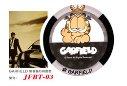 Wholesale Wheel Seller - BEST SELLER Genuine Garfield Leopard series wheel cover cartoon car steering wheel cover black