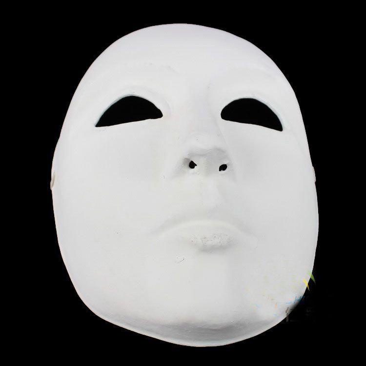 Thicken DIY Plain White Party Masks Womens Mens Paper Pulp ...