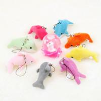 jóias universais venda por atacado-Novo Dolphin Celular Straps / Keychain Bichos de pelúcia Miúdo Brinquedos de Casamento jóias presente de Aniversário