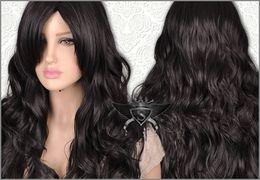 Wholesale Wig Long Wavy Bob - Beautiful Black Lolita Long Wavy Animation Full Wig Long black wig black bob wig curly wigs 28 style