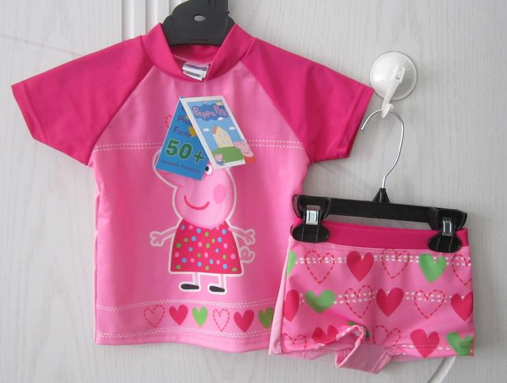 2018 Peppa Pig Uv Swimwear Childrenu0027s Swimming Suits Bathers Upf 50+ Pink From Charming_ornaments $44.07 | Dhgate.Com & 2018 Peppa Pig Uv Swimwear Childrenu0027s Swimming Suits Bathers Upf 50+ ...