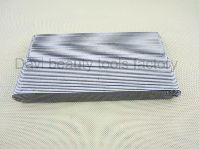 50st / mycket svart slipning nagelfil EMERY bräda tunn svart sandpapper för naglar manikyr nagel konst verktyg