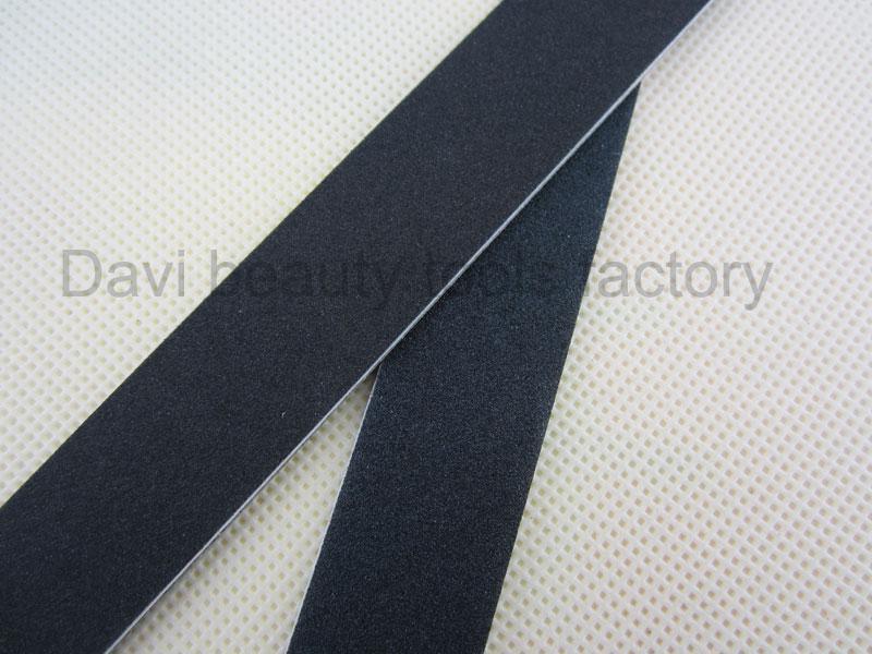 50 sztuk / partia czarny szlifowanie paznokci Plik Emery Cienki czarny papier ścierny do paznokci Manicure Nail Art Tools
