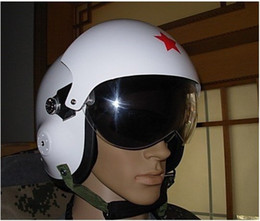 Wholesale Visors Motorcycle Shipping - New Chinese Fighter Jet Open Face Pilot Motorcycle Helmet & Visors top sale free shipping