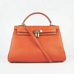 Orange Leather Designer Handbags Sale Online | Orange Leather ...