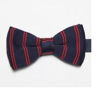 Wholesale Purple Ascot Cravat - polyester knitted ties striped men's necktie retail tie knot solid color bowties cravat ascot F10