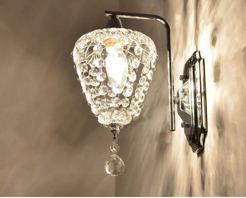 Hanging Wall Lamps 2017 modern crystal bedroom bedsides wall lamp hallway living room