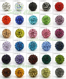 Little Loose Charm Beads Crystal Swarovski Elements Rhinestone Beads 10mm 70pcs / lot Nueva venta caliente Muticolor