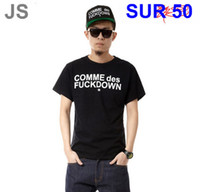 Wholesale Comme Des Fuckdown Red - mens Last kings T-Shirts shirts T shirts Les hommes Hip-hop brand Short Sleeve Tshirts SSUR COMME DES FUCKDOWN Tshirts Mixed order