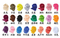 Wholesale Candy Pink Scarf - Free shipping candy colored fold scarf Korean version sweet Ms. Shawl cute wrinkled towel scarves