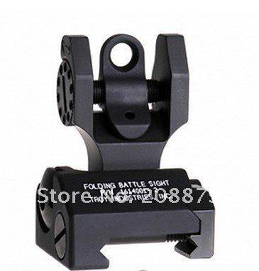 Troy Industries Rear Battle Back Iron Sight Black Folding confezione 2 pezzi nero tan
