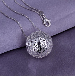Wholesale Gift Prices Canada - Low price 925 sterling silver plated hollow pendant necklace Women Fashion Jewelery Party Gift Free Shipping
