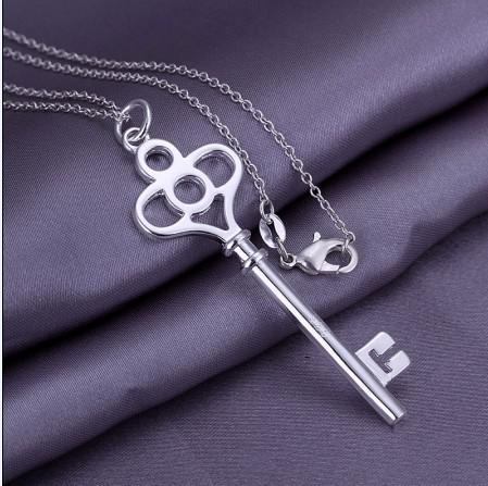 Collana d'argento del pendente di chiave dei monili di successo 925 Trasporto libero superiore /