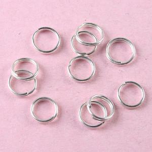 500pcs Silver tone 6mm Jewelry split jump Rings H0840