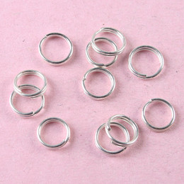 Wholesale 6mm Jump Rings Silver - 500pcs Silver tone 6mm Jewelry split jump Rings H0840
