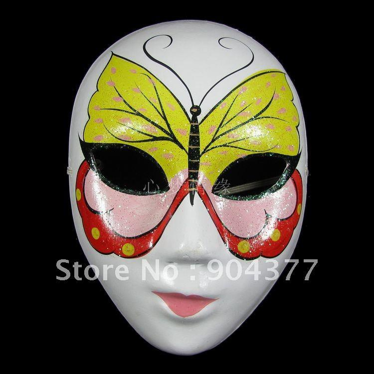High Quality Butterfly Masquerade Mask Women Paper Mache Full Face Delectable Paper Mache Masks To Decorate