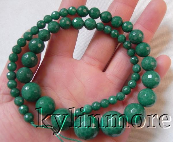 8se08819a 6-16 мм зеленый красный нефрит ограненные круглые бусины 17,5