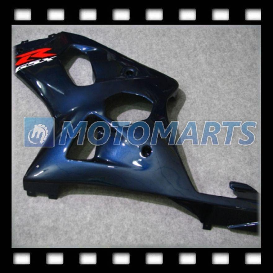 100% NEW Dark Blue for SUZUKI GSXR600 GSXR750 GSX R600 R750 GSXR 600 750 K1 01 02 03 Fairing Kit