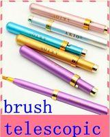 Wholesale Telescopic Lip Brush - Makeup Tools & Accessories Many ColorsThe Telescopic Lip Brush Eyeliner Concealer Makeup Brush With Lid Clean Sanitary Makeup Brushes