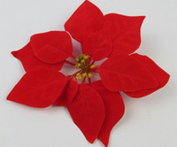 "Wholesale Silk Poinsettias - Red 100p Dia.20cm 7.87"" Artificial Simulation Silk Poinsettia Christmas Flower Decorative Flowers"