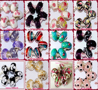 Wholesale Biagi Glass Beads - HOT!! 50PCS 925 GLASS Beads Murano Bead 925 Silver core Big Hole charm Beads European Fashion Beads fit BIAGI for Pandora Bracelets
