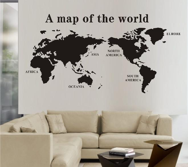0827 Discount World Map Wall Stickers Decal World Maps Wall Mural Art Home  Decore Wall Saying Decals Wall Sayings From Beijia2013, $26.32| Dhgate.Com Part 88