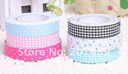 Wholesale Craft Corner - free shipping 5M multi color fabric stickers Adhesive Tape Deco DIY card photo corner art craft scra
