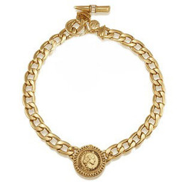 Wholesale twisted chunky choker necklace - NEW!Fashion Hip Hop Gold Plating Chunky Necklace Collar Royal Queen Pendant Choker Chain Necklaces For Men Freeshipping
