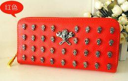 Wholesale Black Punk Purses - 2013 Wallet Punk wallet Purse Hand Bag HOT Fashion WOMEN PU Leather Handbags Totes Skull purse