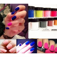 Wholesale Flock Powder - Trendy 22 Color 3D Nail Art Flocking Powder Nails Velvet Decoration Set