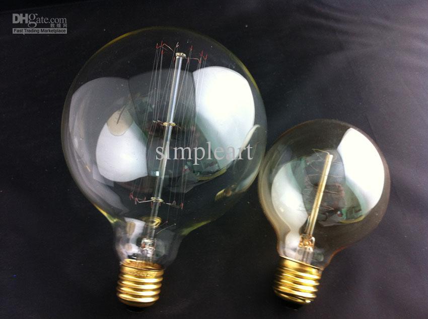 Large Filament Light Bulb: Antique Vintage Edison light Bulb 40W 110v 220V Super Large G125AD cage  filament Wholesale lamp Old Fashion HOT,Lighting