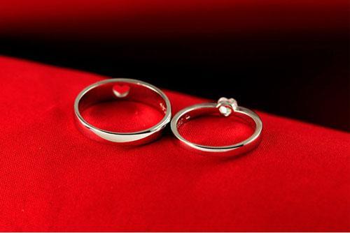 NOVO! Moda 925 sterling silver 30% OURO branco chapeamento Endless Love Gemstone Casal Anéis Frete Grátis
