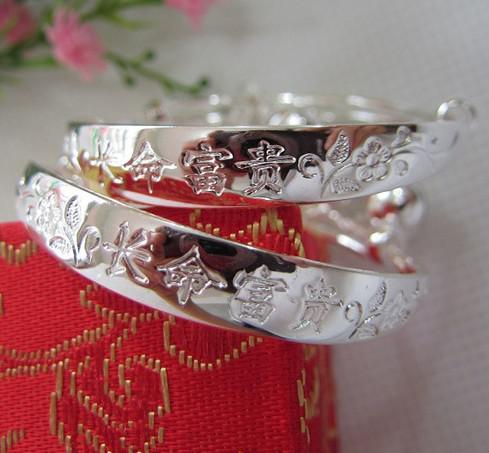 Braccialetti dell'argento dell'argento bianco del braccialetto del braccialetto del braccialetto dell'argento sterling del 30% del Braccialetto del Braccialetto del Braccialetto del Braccialetto dell'argento sterling 925 925 le ragazze Ragazzi Trasporto libero