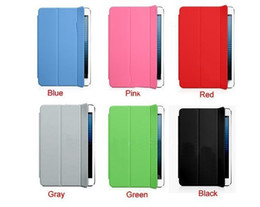 Wholesale Ipad Protector Leather Case - wholesale NEW Magnetic PU Leather Slim Smart Cover Case Stand For Apple i Pad Mini Protector 6Colors