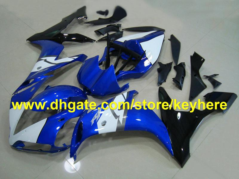 popular blue white fairing kit for YAMAHA YZF-R1 2004 2005 2006 YZF R1 2004-2006 YZFR1 04 05 06 RX2B